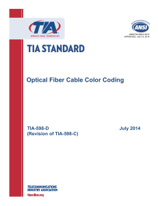 Optical Fiber Cable Color Coding