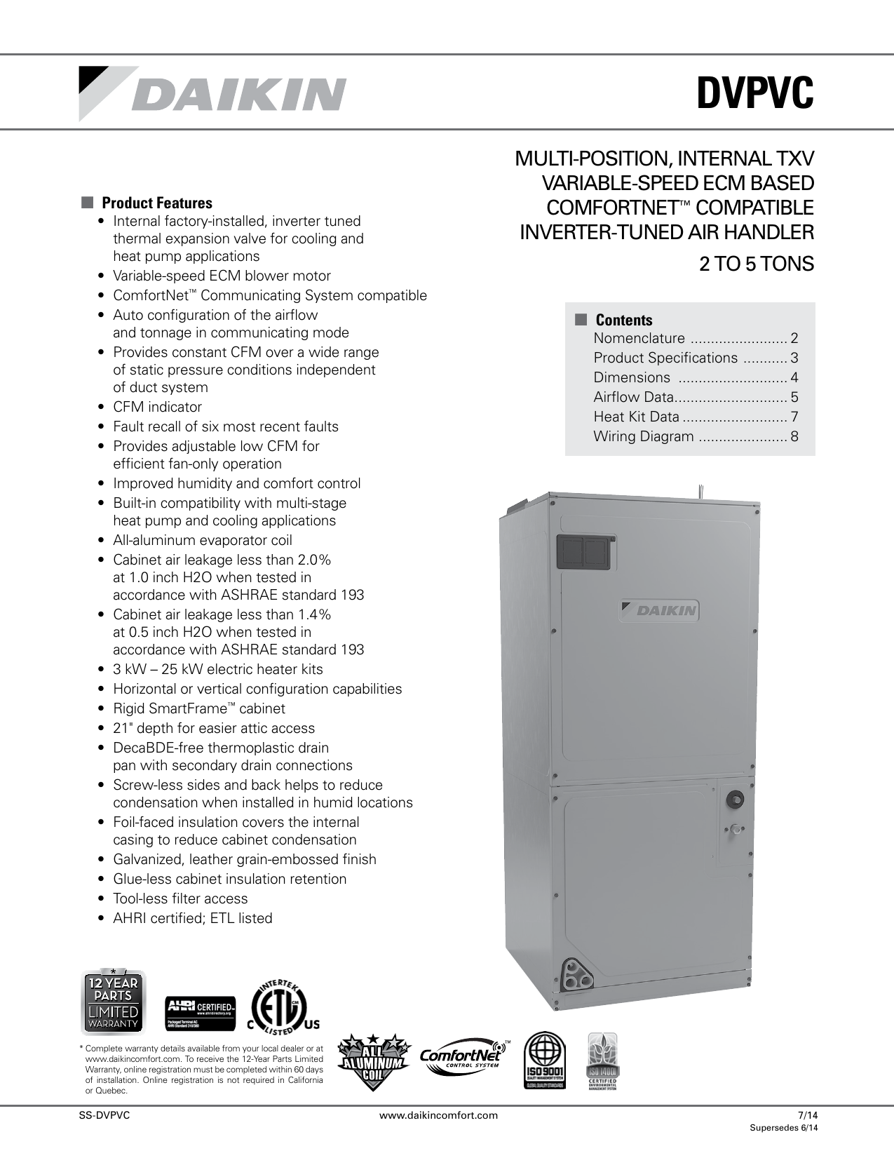 Multi Position Internal Txv Variable Speed Ecm Based 2 Ton Goodman Heat Kit Wiring Diagram