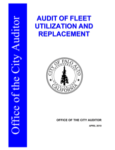 audit of fleet utilization and replacement