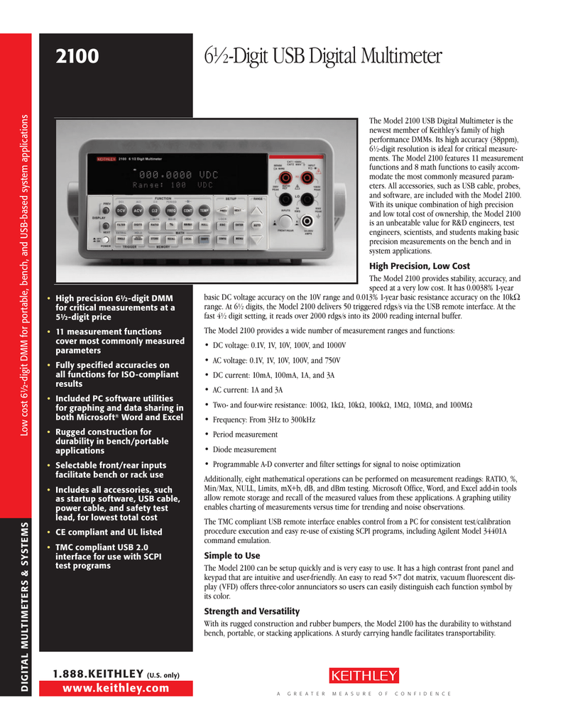 KEITHLEY 2100 USB DRIVER DOWNLOAD FREE