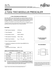 MB510 2.7GHz TWO MODULUS PRESCALER