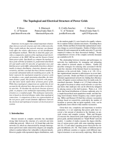The Topological and Electrical Structure of Power Grids