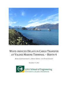 wave-induced delays in cargo transfer at valdez marine terminal