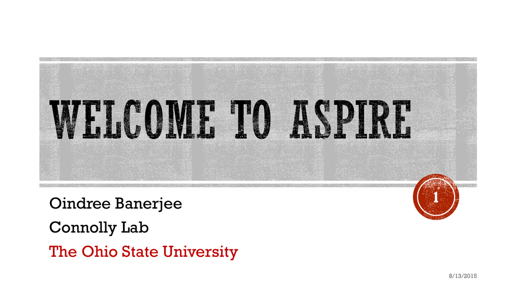 ASPIRE 2015 - OSU - The Ohio State University