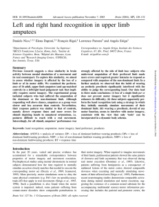 Left and right hand recognition in upper limb amputees
