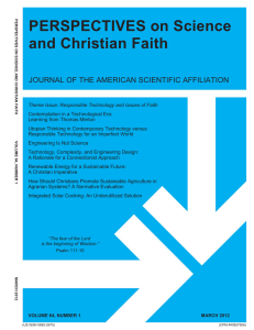 PERSPECTIVES on Science and Christian Faith