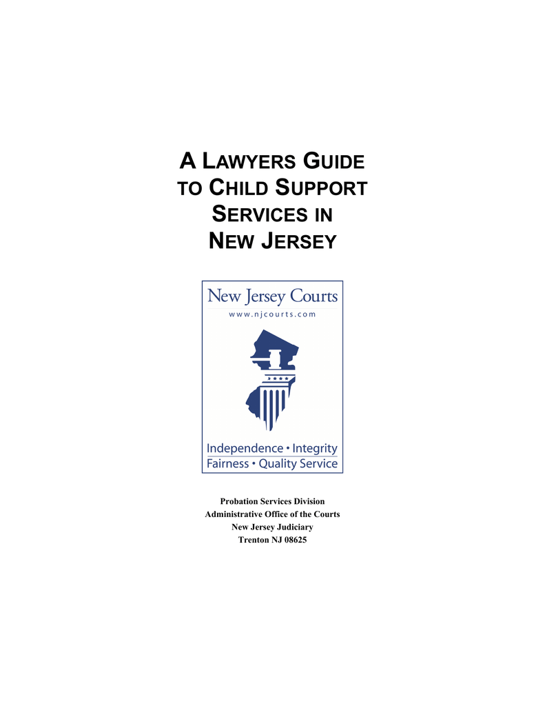 A Lawyers Guide to Child Support Services in New Jersey – Nj Child Support Guidelines Worksheet