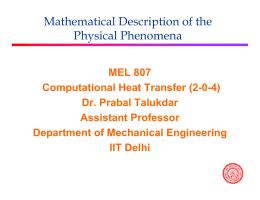 Mathematical Description of the Physical Phenomena