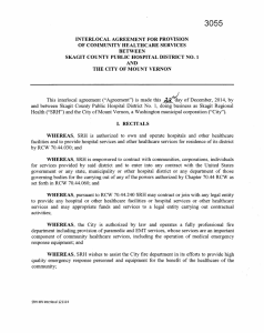 interlocal agreement for provision of community health care services