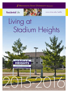 Living at Stadium Heights - Minnesota State University, Mankato