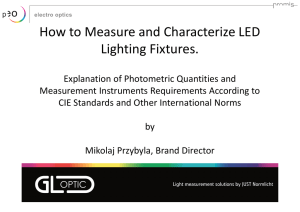 How to Measure and Characterize LED Lighting