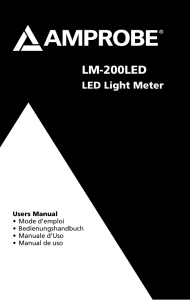 LM-200LED LED Light Meter Product Manual