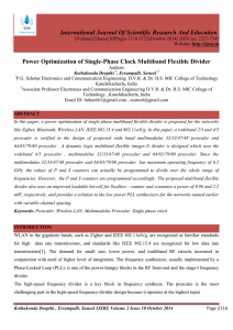 Power Optimization of Single-Phase Clock Multiband Flexible Divider