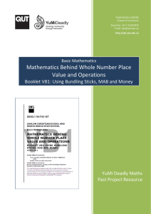 Mathematics behind Whole-Number Place Value and Operations