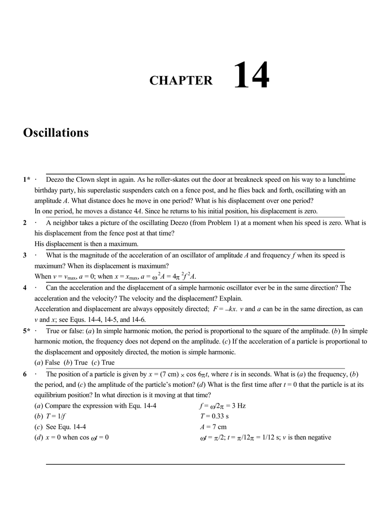 Ch 14 Solution