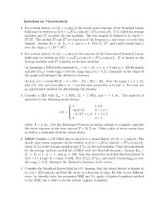 Questions on Viscoelasticity 1. For a strain history of ε(t) = ε 0 sin(ωt