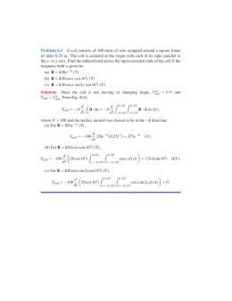 Problem set 7 solution