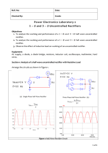 Lab-2: Uncontrolled Rectifiers