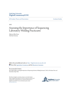 Assessing the Importance of Sequencing Laboratory Welding