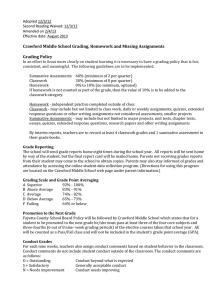 Grading Policy - Crawford Middle School