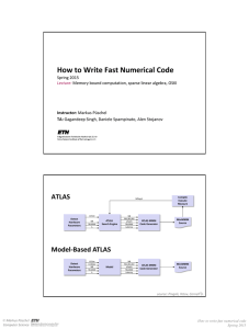 How to Write Fast Numerical Code