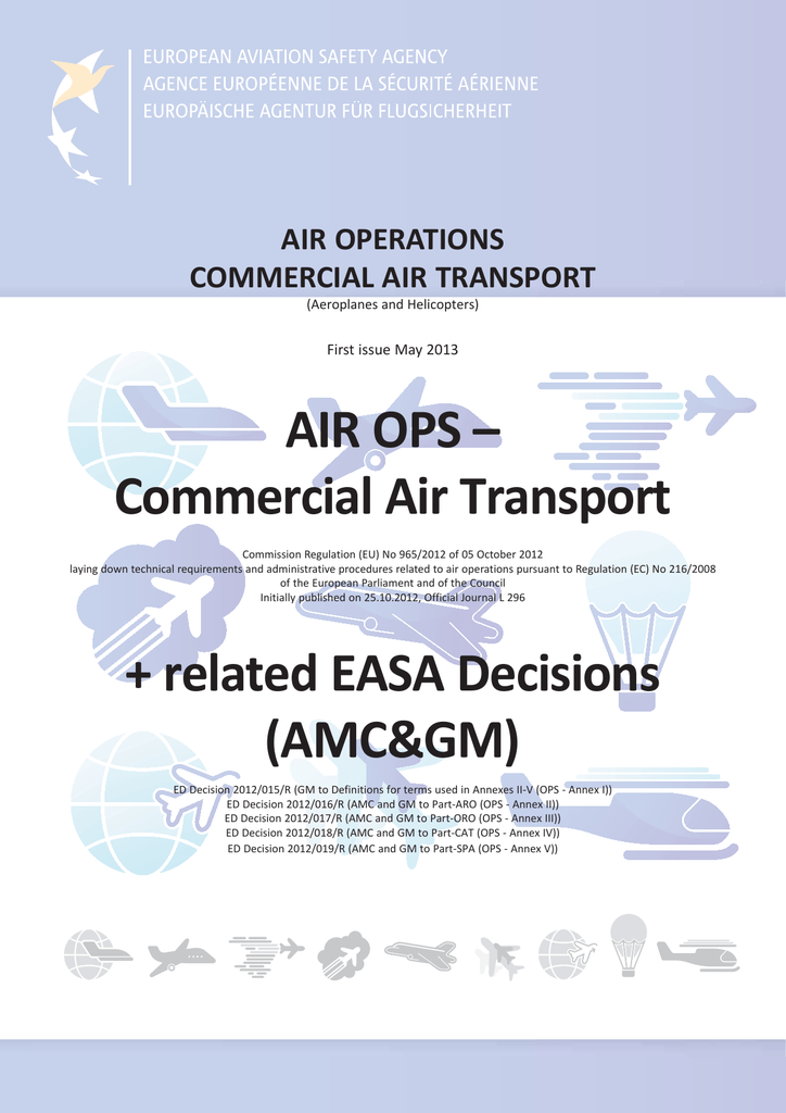 AIR OPS – Commercial Air Transport + related EASA Decisions