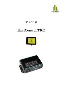 Manual ExciControl TRC