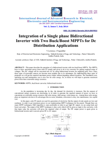 Integration of a Single phase Bidirectional Inverter with