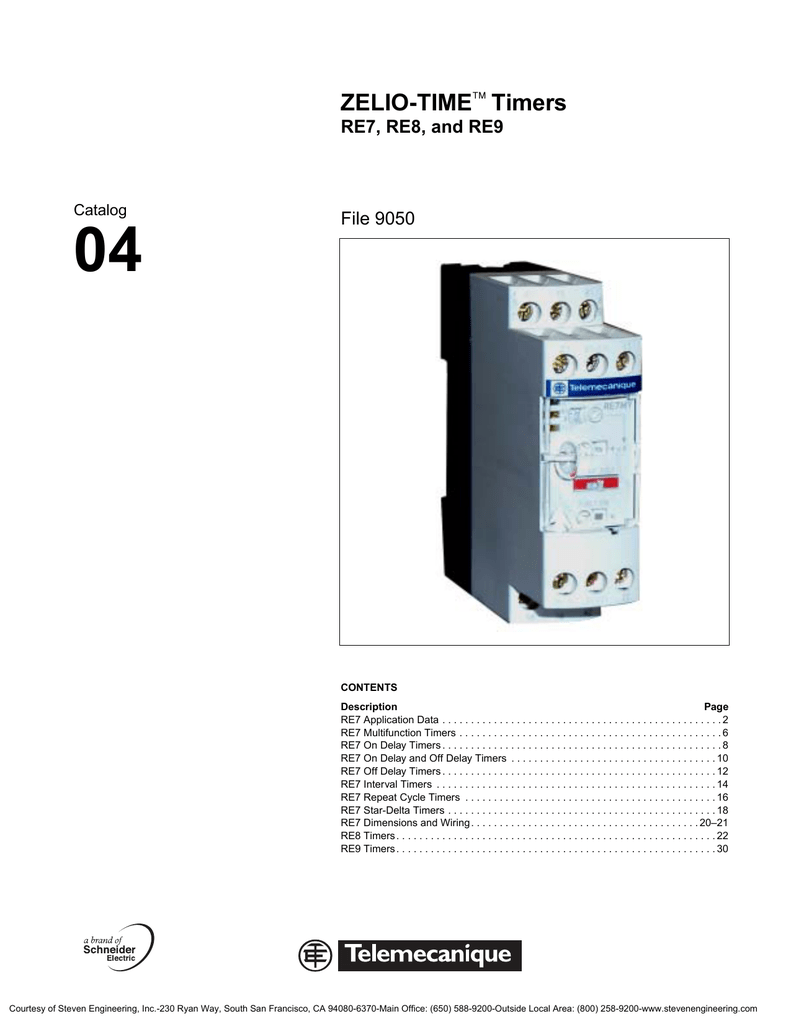 Zelio Re Timers Timer Off Wiring Diagram