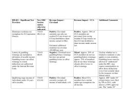 CCA Impact Analysis HB 601