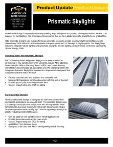 Section 08630 Metal Frame Curb Smake Hatches (Sunoptics)