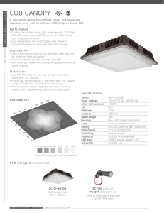 COB Canopy Cut Sheet