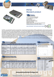 Standard product PST22 - Power System Technology