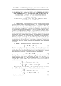POLARIZATION RELAXATION AND DETERMINISTIC