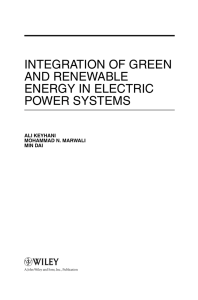 integration of green and renewable energy in electric
