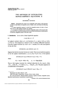monge-ampere`s equations. ii - American Mathematical Society