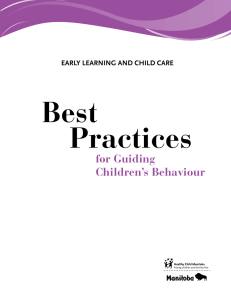 Best Practices for Guiding Children`s Behaviour