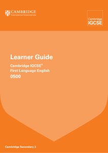 0500 First Language English Learner Guide 2015.indd
