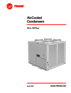 Air-Cooled Condensers, 20 to 120 Tons.