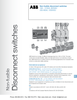 Detailed Specifications - Crawford Electric Supply