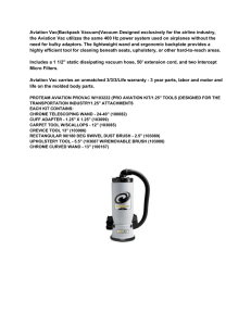 Aviation Vac(Backpack Vacuum)Vacuum Designed