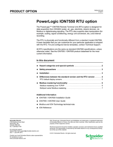 PowerLogic ION7550 RTU option