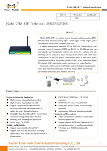 F2164 GPRS RTU Technical SPECIFICATION - Four