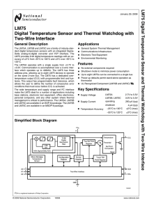 LM75 Digital Temperature Sensor and Thermal Watchdog with Two