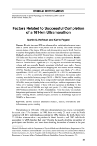 Factors Related to Successful Completion of a 161