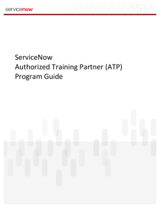 ServiceNow Authorized Training Partner (ATP) Program Guide