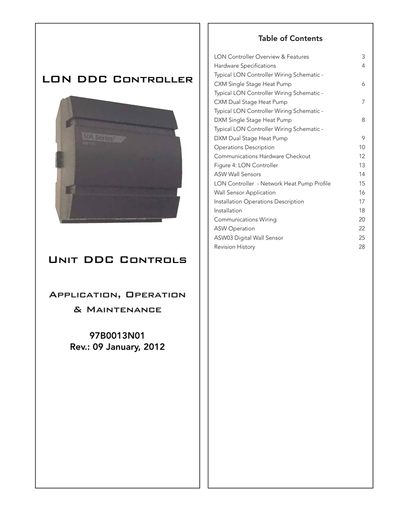 LON DDC Controller Unit DDC Controls Ddc Control Wiring Diagram on