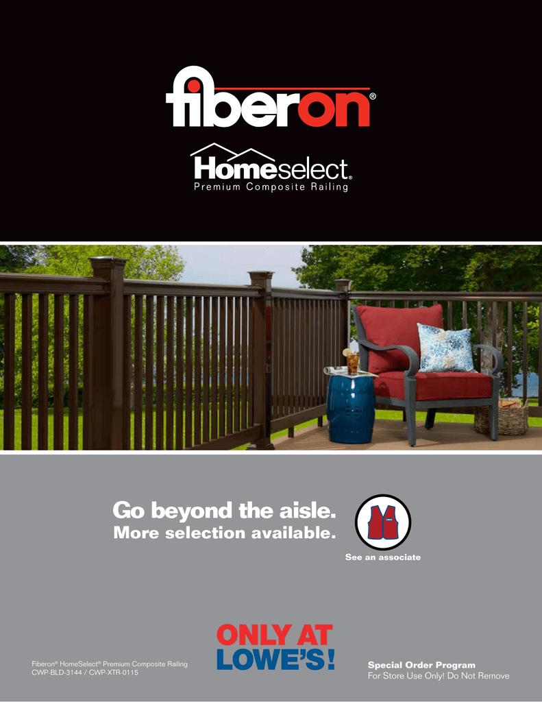 Go beyond the aisle  - Fiberon Home Select
