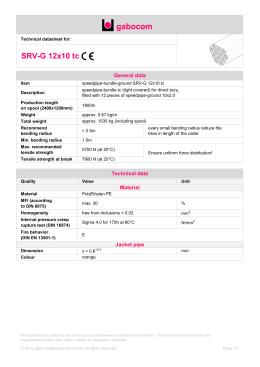 Technical datasheet - SRV-G 12x10 tc