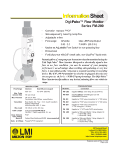 InformationSheet Digi-Pulse™ Flow Monitor Series FM-200